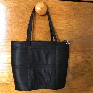 Carlo Fellini Black Satin Evening Bag Purse